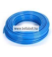 PE egyenes tömlő 12/10 mm kék