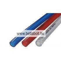 Tömlő 13 mm piros PVC