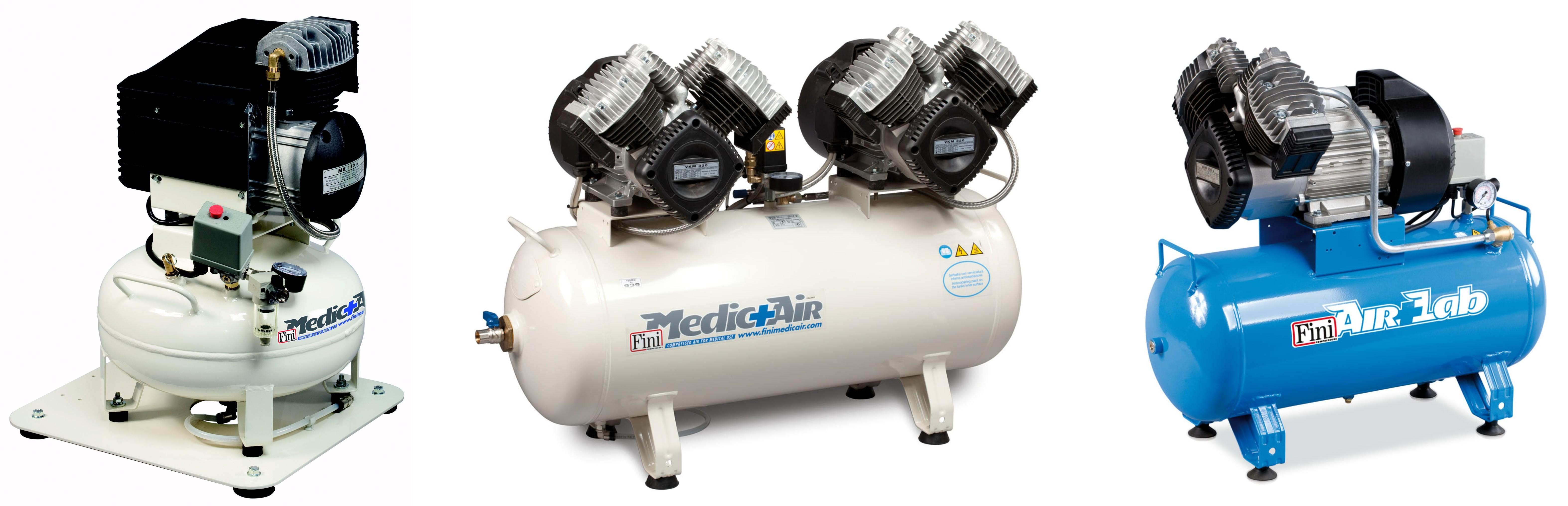 Fogászati és laborkompresszorok (0,55-4,4 kW)