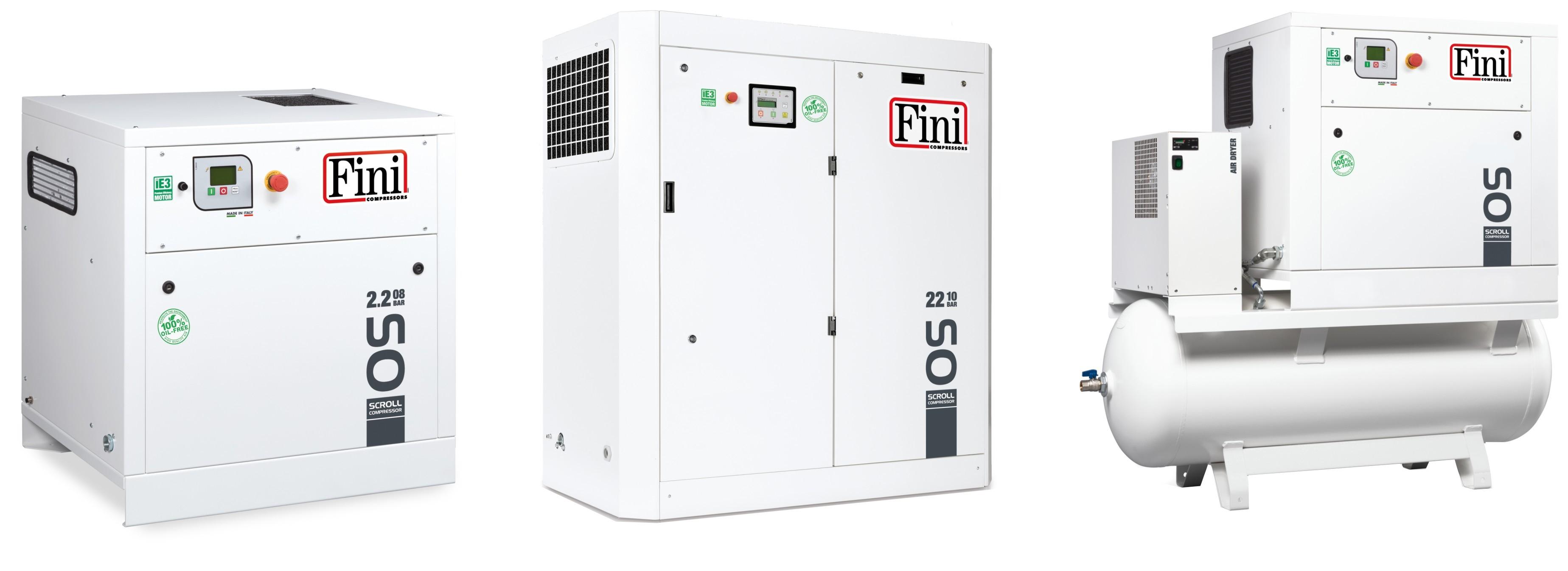 Scroll ipari olajmentes kompresszorok (2,2-22 kW)